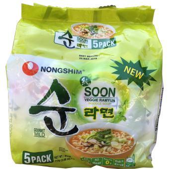 Lốc 5 gói mì Chay Soon Veggie Ramyun 112g