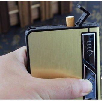Hộp Đựng Thuốc Lá Kiêm Bật Lửa Hồng Ngoại Kèm Cáp Sạc F636 (Đen) + Tặng bút cảm ứng kiêm bút ký cho smartphone và tablet (bạc)