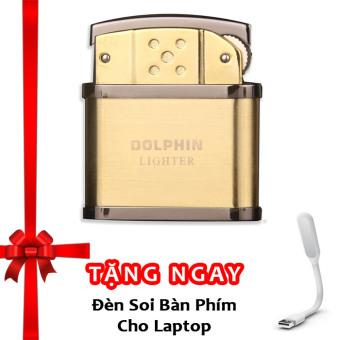 Bật Lửa Cối Dolphin Classical F501 (Vàng) + Tặng đèn soi bàn phím cho laptop