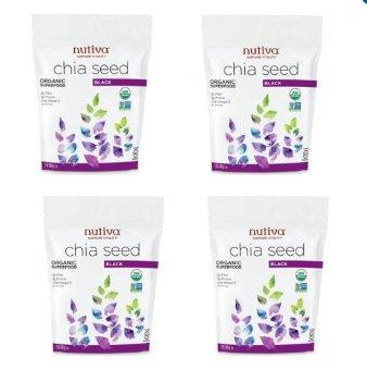 Bộ 4 gói hạt chia Nutifood Nutiva Organic Chia Seed 907g