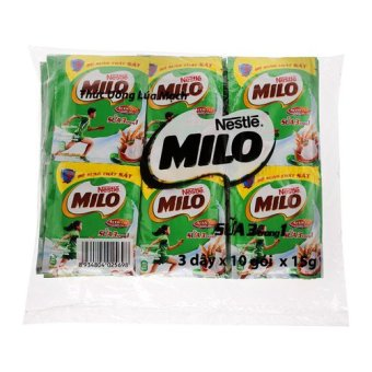 Túi 3 dây 10 gói sữa Nestlé Milo 3 in 1 15g