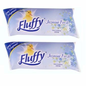 Bộ 2 túi xả vải siêu đậm đặc Fluffy hương hoa nhài -250mlx2 - Úc