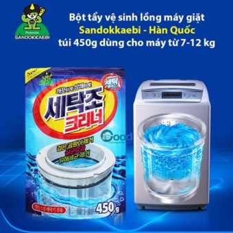 Bộ 3 gói bột tẩy vệ sinh lồng giặt Hàn Quốc