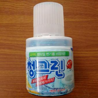 Combo Bột tẩy lồng máy giặt + Chai thả vệ sinh bồn cầu Hàn quốc