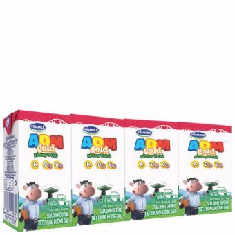 Thùng 48 Hộp sữa tiệt trùng Vinamilk ADM Gold Hương dâu 110ml