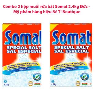 Bộ 2 hộp muối rửa bát Somat 2.4 kg