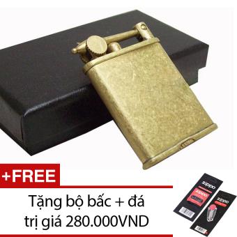 Bật Lửa Xăng Đá Zorro XD 06 (Vàng Đồng) + Tặng bộ bấc và đá
