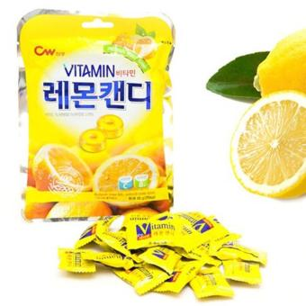 Kẹo Cứng Trái Cây Hàn Quốc Vị Chanh 100g/gói