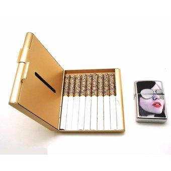 Mua Hộp đựng thuốc lá 20 điếu cao cấp bằng nhôm siêu mỏng F179 (Vàng) giá tốt nhất