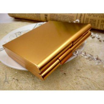 Hộp đựng thuốc lá 20 điếu cao cấp bằng nhôm siêu mỏng F179 (Vàng)