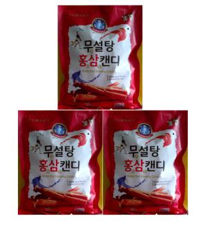 Bộ 3 gói Kẹo Hồng Sâm không đường đỏ 500g