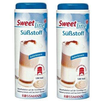 Bộ 2 lọ đường ăn kiêng Sweet line - Đường cho người tiểu đường 1200 viên x 2