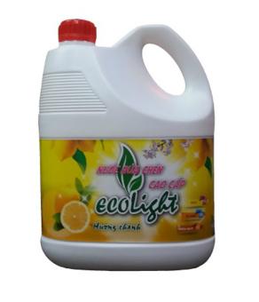 Nước rửa chén cao cấp Ecolight 3.6L hương chanh