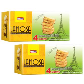Bộ 2 bánh cracker kẹp kem sầu riêng Lamosa 160g