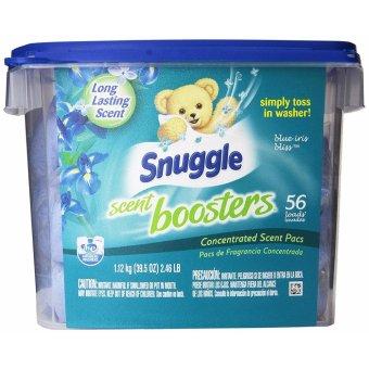 Hộp 56 Viên Nước Hoa Thơm Áo Quần Snuggle Laundry Scent Boosters Blue Iris Bliss Tub 56 Count (Mỹ)
