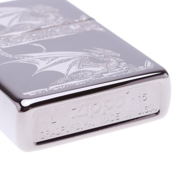 Hộp Quẹt Zippo Pocket Stokes Gothic Dragon Lighter 28961 (Trắng)