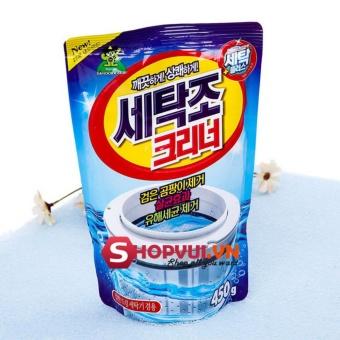 01 gói bột tẩy lồng máy giặt nhập khẩu nguyên túi từ Hàn quốc