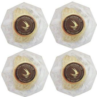 Bộ 4 hộp yến trắng tinh chế loại 3 10g
