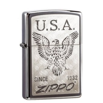 Bật lửa Zippo American Eagle (Bạc)