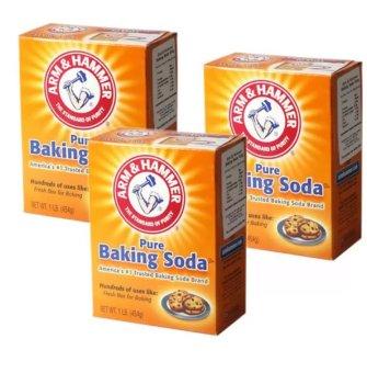 Bộ 3 Bột Baking Soda đa công dụng 454g