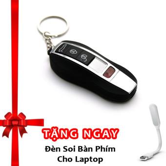 Bật lửa hồng ngoại kiêm móc khóa xe hơi kèm cáp sạc F525 (đen) + Tặng đèn soi bàn phím cho laptop