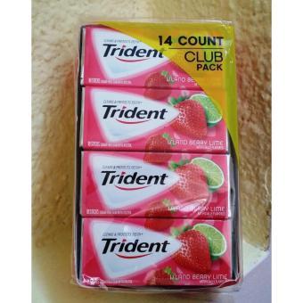 Hộp 14 phong Kẹo cao su không đường Trident vị Chanh Dâu