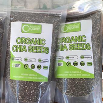 Bộ 2 gói hat chia Hạt chia Organic Chia Seeds Australia 1kg