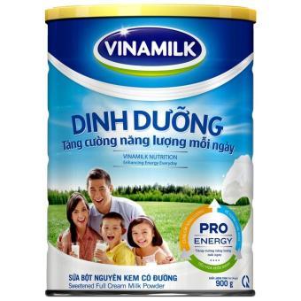 Sữa bột Nguyên kem có đường Vinamilk Dinh Dưỡng 900g (Hộp thiếc)