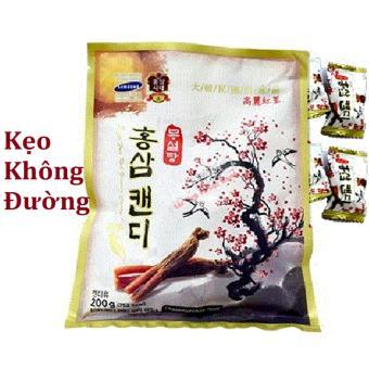 Kẹo Sâm vitamin cành đào Hàn Quốc không đường 200g/gói