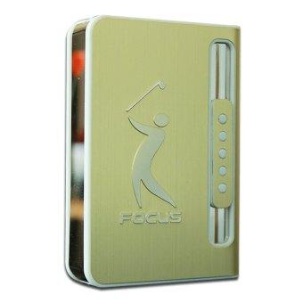 Hộp Đựng Thuốc Lá Kiêm Bật Lửa Khò Gofl Club Edition (vàng)