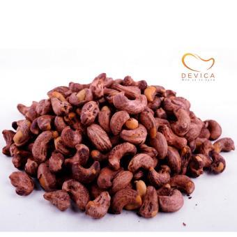 Hạt điều DEVICA - Hạt điều rang muối vỏ lụa DELUX cao cấp - Hộp quạt hạt điều Tết 250g