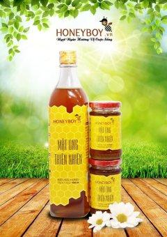 Bộ 1 Mật ong thiên nhiên 500ml và 2 Mật ong thiên nhiên 100ml