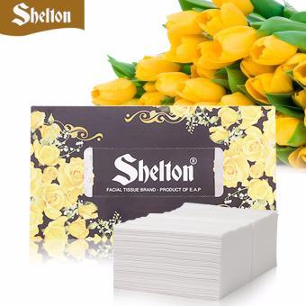 Khăn hộp Shelton Hoa Vàng 180 tờ x 2 lớp, 185mm x 200mm