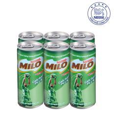 Giảm giá Lốc 6 Lon Nestlé MILO ® Uống Liền (24 lon x 240ml)