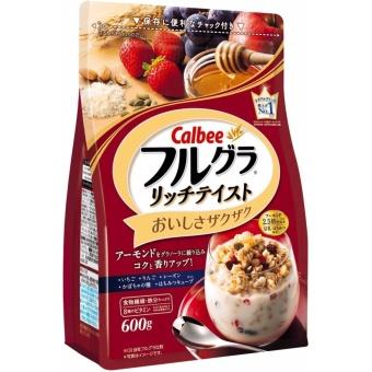 Ngũ cốc Calbee Nhật Bản 600g màu đỏ( hạnh nhân,mật ong, dâu, lúa mạch..)