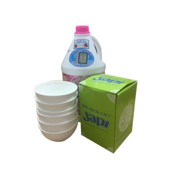 Nước giặt xả Japi 3,8 lít hương hoa Anh Đào hồng Nhật Bản