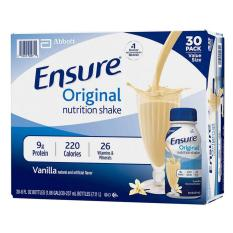 Sữa Ensure nước hương Vani Ensure Original 237ml Thùng 30 chai MỸ