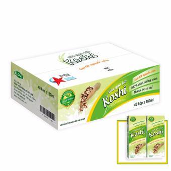 Sữa gạo lứt Koshi vị gạo rang 180ml thùng 48 hộp