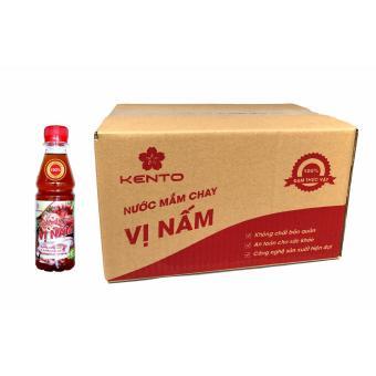 Thùng 24 chai Nước mắm Chay Vị Nấm Kento (100% Đạm thực vật)