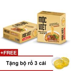 Giảm giá Thùng 30 gói mì Mộc Việt vị Bò Hầm Rau Thơm + Tặng bộ rổ 3 cái