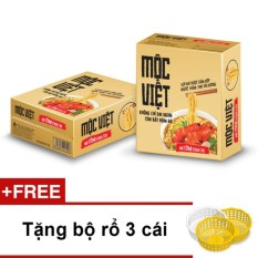 Nơi Bán Thùng 30 gói mì Mộc Việt vị Tôm Chua Cay + Tặng bộ rổ 3 cái
