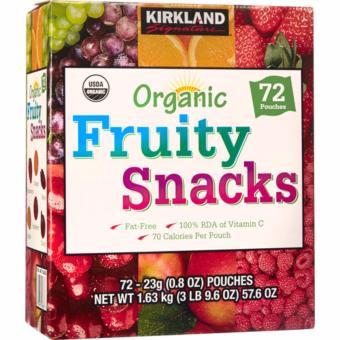 Thùng 72 bịch kẹo dẻo trái cây bổ sung Organic Fruity Snacks