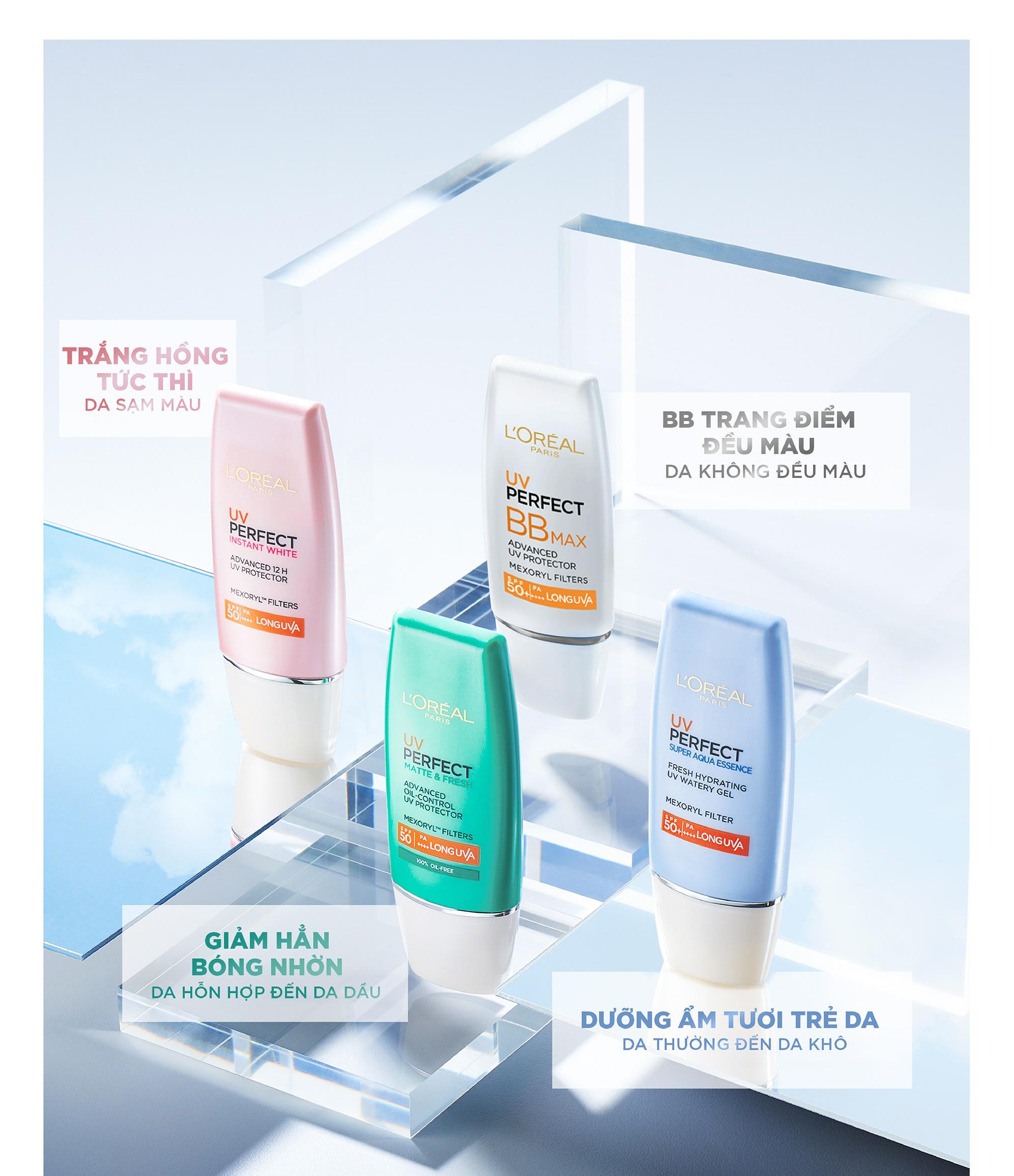 Kem Chống Nắng Bảo Vệ & Dưỡng Da L'Oreal Paris UV Perfect Aqua Essence  SPF50+ PA++++ 30ml | Lazada.vn