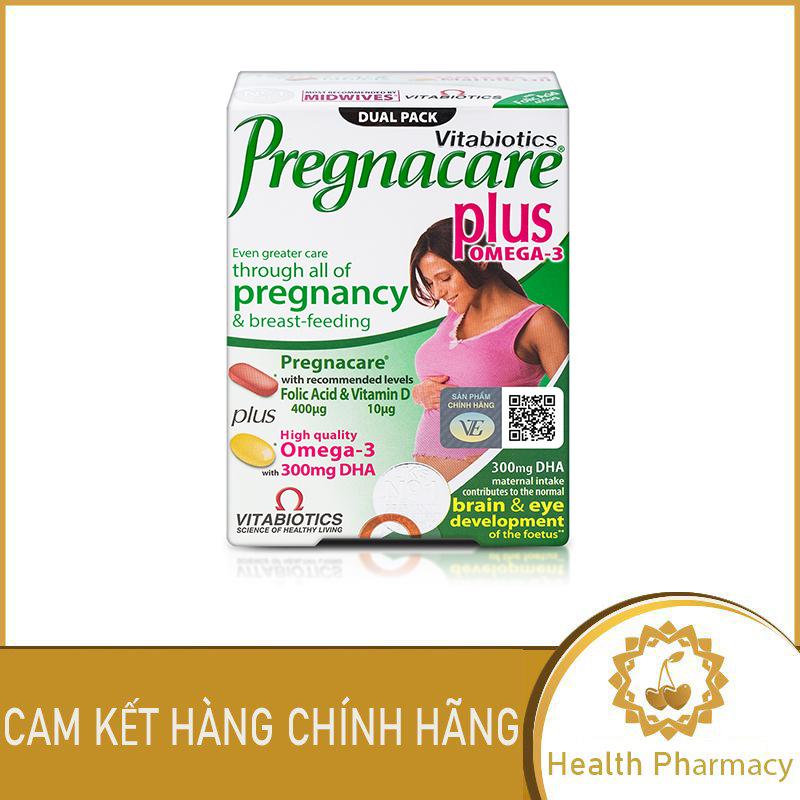 Viên uống Vitabiotics Pregnacare Plus Bổ Sung Vitamin & Khoáng Chất Thiết Yếu Trước Và Trong Khi Mang Thai Hộp 56 viên - Health Pharmacy