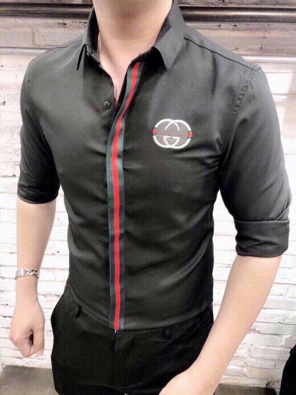 Áo sơ mi nam dài tay vải lụa trợn co giãn nhẹ, thấm hút mồ hôi, không nhăn, không xù, không phai màu hàng VNXK cao cấp Selina Fashion- ASMNSL0015