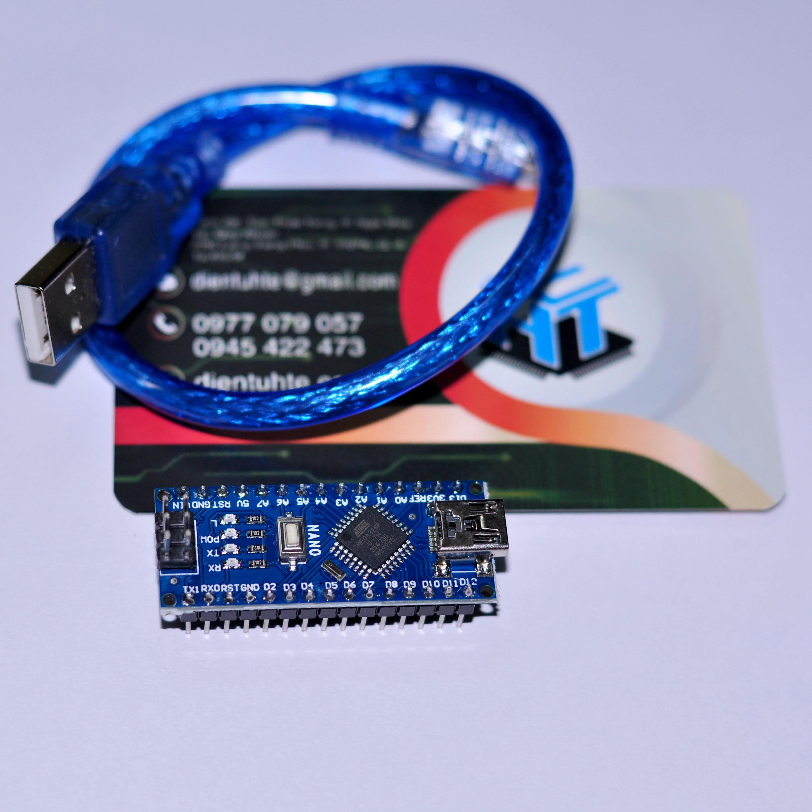 Kit Arduino nano CH340 - Kèm cáp USB mini