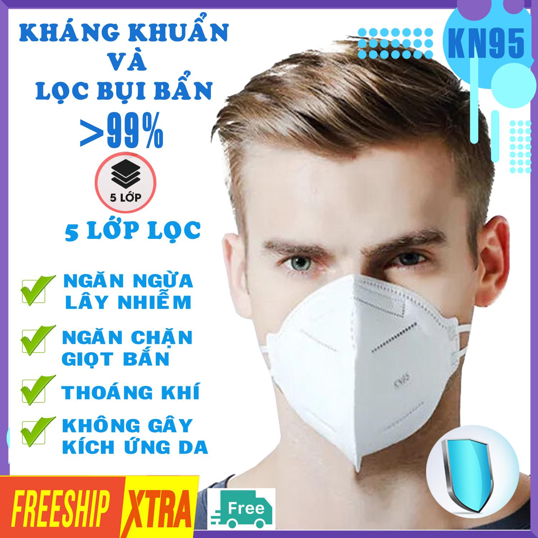 [Hộp 10 chiếc HÀNG CAO CẤP] Khẩu trang N95 KN95 không van 5 lớp cao cấp chống bụi kháng kháng khuẩn DONAFA