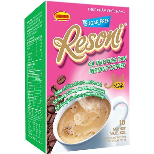 Combo 2 gói Cafe Resoni Cho Người Béo phì, Ăn kiêng, tiểu đường 200gram - 20 gói