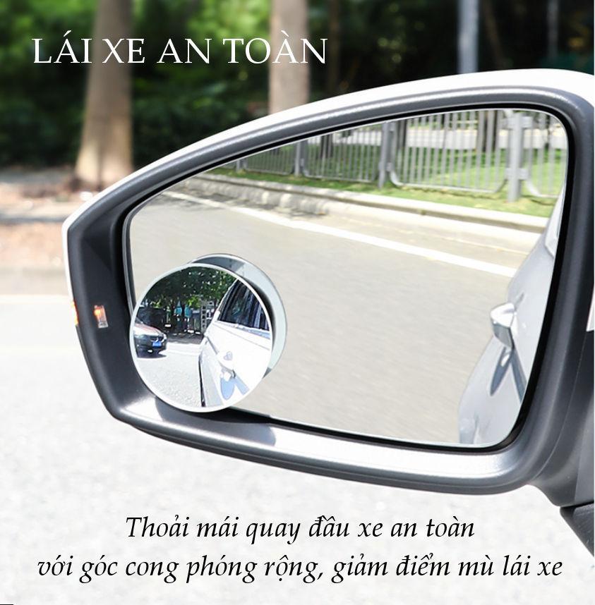 Gương cầu phụ chiếu hậu cho xe hơi, đường kính 5cm, bề mặt tráng Nano chống nước, giảm điểm mù cho lái xe UGREEN LP194 60971