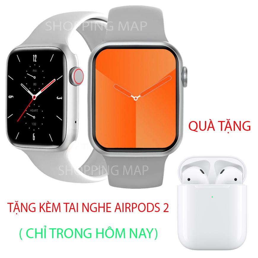 [QUÀ TẶNG KHỦNG] HW22 Pro Đồng hồ thông minh giá rẻ - Apple Watch Series 6 HW22 PRO Nghe gọi trực tiếp, Sạc không dây, Màn Hình Tràn Viền, Đổi Hình Nền Chống Nước Chuẩn IP68, Theo Dõi Giấc Ngủ, Đo Nhịp Tim, chơi game